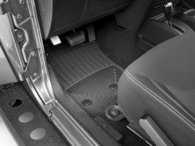 Weathertech All Weather Front Rubber Floor Mats - Black (07-13 Jeep Wrangler JK)
