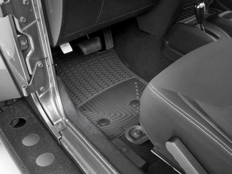 Weathertech All Weather Front Rubber Floor Mats - Black (07-18 Jeep Wrangler JK)