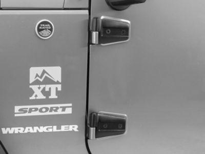 Add Rugged Ridge Black Driver Side Door Hinges (07-17 Wrangler JK)