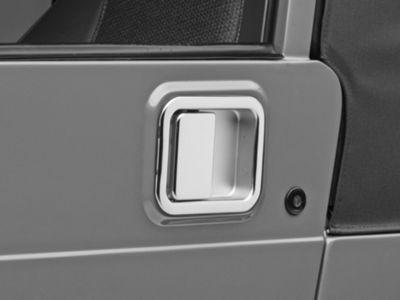 Omix-ADA Chrome Full Steel Door Paddle Handle (87-95 Jeep Wrangler YJ LH, 97-06 Jeep Wrangler TJ RH)