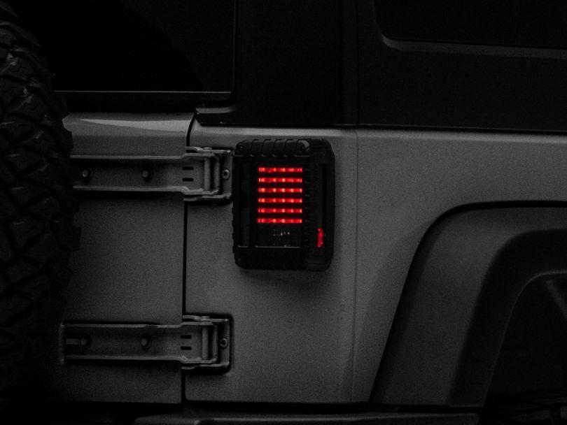 Raxiom LED Tail Lights - Smoked (07-18 Jeep Wrangler JK)