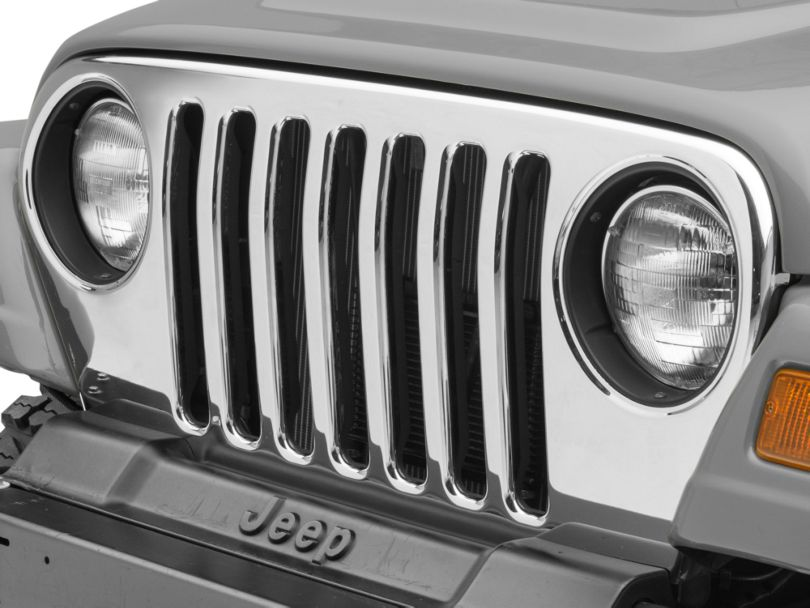 Grille Overlay - Chrome (97-06 Jeep Wrangler TJ)