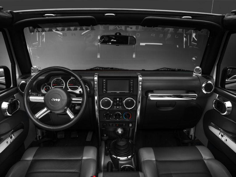 Rugged Ridge Chrome Interior Trim Accent Kit (07-10 Jeep Wrangler JK 4 Door w/ Manual Transmission & Power Windows)