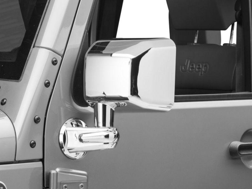 Rugged Ridge Chrome Left Side Mirror (07-10 Jeep Wrangler JK)