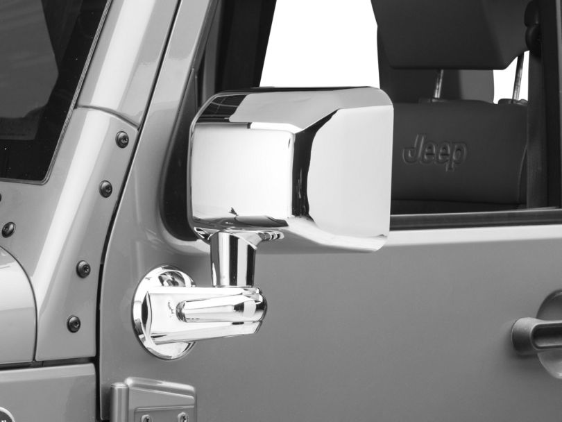 Rugged Ridge Door Mirrors - Chrome (07-10 Jeep Wrangler JK)