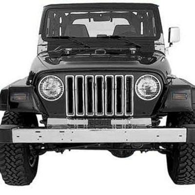 Smittybilt Plastic Grille Inserts - Chrome (97-06 Jeep Wrangler TJ)