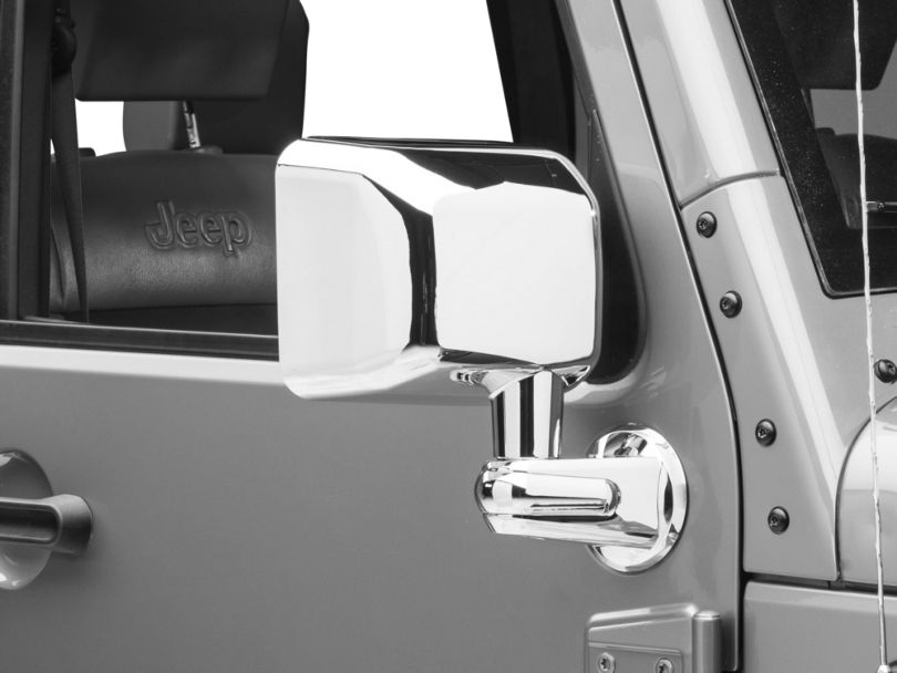 Rugged Ridge Chrome Right Side Mirror (07-10 Jeep Wrangler JK)