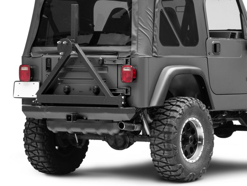 Smittybilt Rock Crawler Classic Rear Bumper with Tire Carrier (87-06 Jeep Wrangler YJ & TJ)