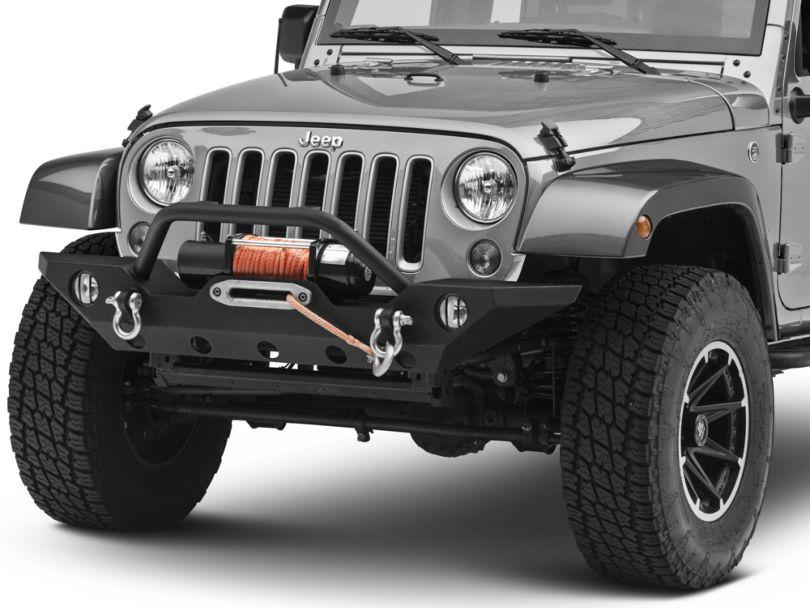 RedRock 4x4 Euro Fog Light Guards - Black (07-18 Jeep Wrangler JK)