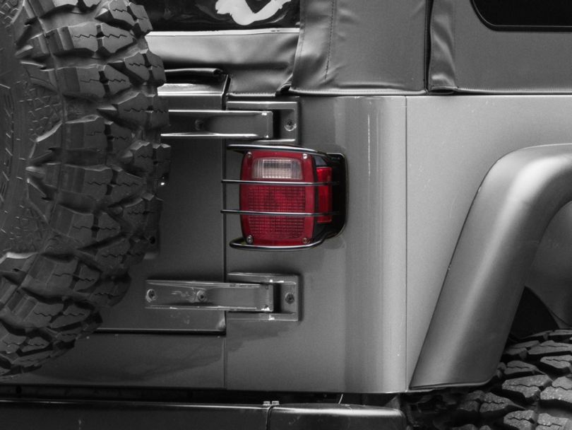 RedRock 4x4 Euro Tail Light Guards (87-06 Jeep Wrangler YJ & TJ)