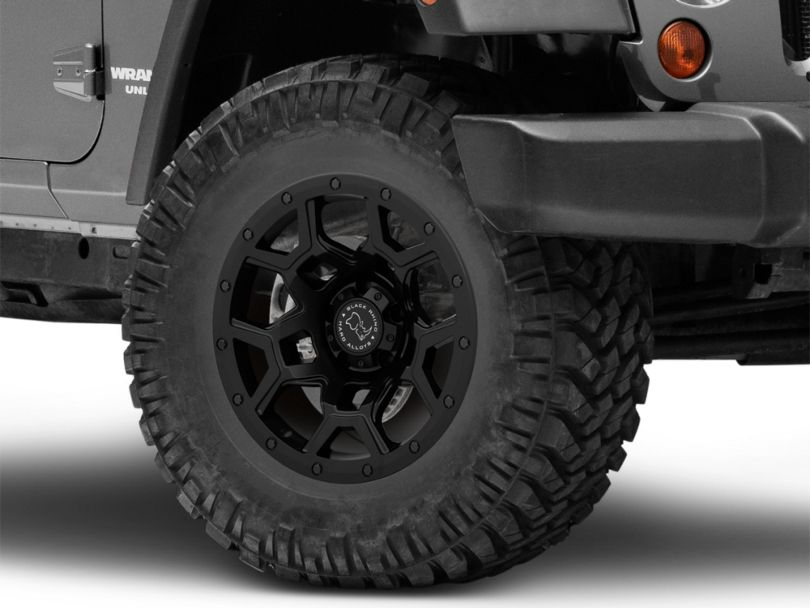Black Rhino Overland Matte Black Wheel; 17x9.5 (07-18 Jeep Wrangler JK)