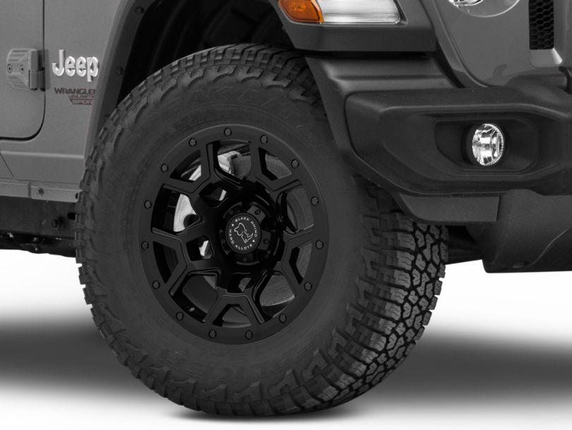Black Rhino Overland Matte Black Wheel - 17x9.5 (18-20 Jeep Wrangler JL)