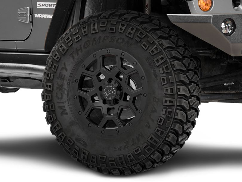 Black Rhino Overland Matte Black Wheels (07-18 Jeep Wrangler JK)