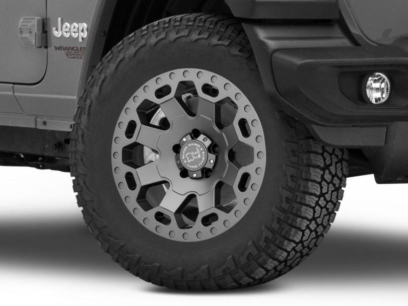 Black Rhino Warlord Matte Gunmetal Wheel; 18x9 (18-20 Jeep Wrangler JL)