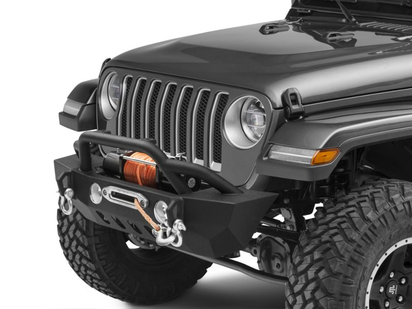 RedRock 4x4 Crawler Stubby Front Bumper w/ Winch Mount (18-20 Jeep Wrangler JL)
