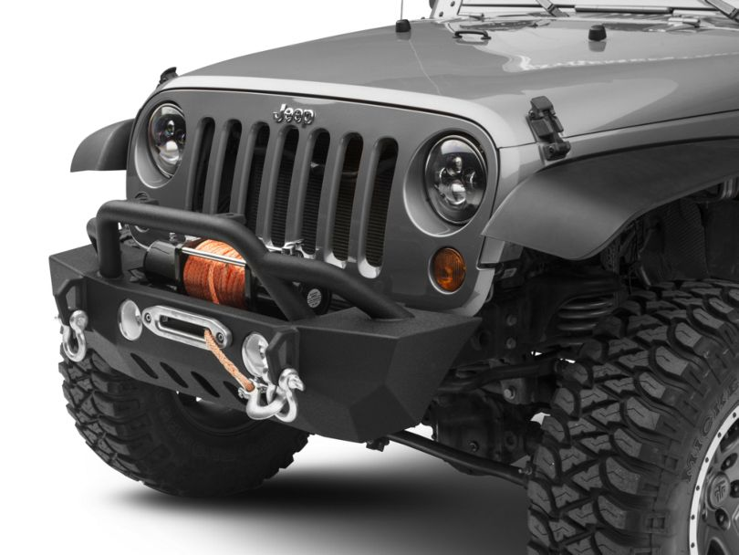 RedRock 4x4 Crawler Stubby Winch Front Bumper (07-18 Jeep Wrangler JK)