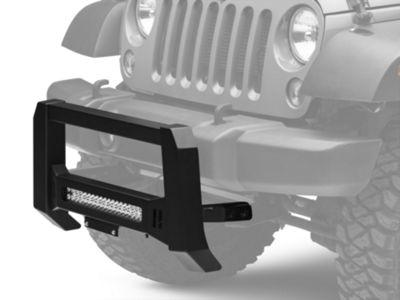 Barricade XHD Bull Bar w/ Dual Row LED Light Bar - Black (10-18 Jeep Wrangler JK)