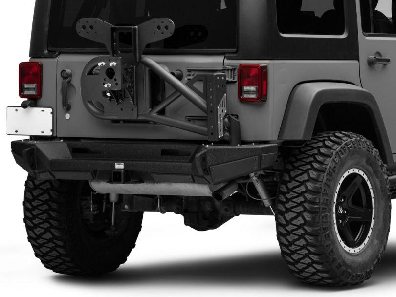 Smittybilt XRC Gen2 Bolt-On Tire Carrier; Textured Black (07-18 Jeep Wrangler JK)