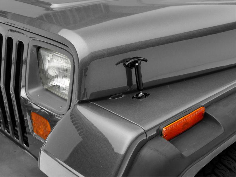 Smittybilt Hood Catch Kit - Black (87-95 Jeep Wrangler YJ)