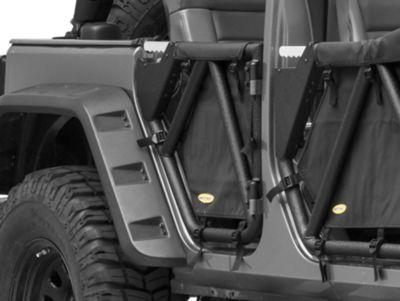 Smittybilt SRC Gen2 Rear Tube Doors (07-18 Jeep Wrangler JK 4 Door)