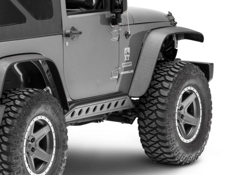 Smittybilt SRC Rocker Guards - Light Textured (07-18 Jeep Wrangler JK 2 Door)