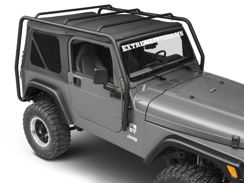 Smittybilt SRC Roof Rack - Black Textured (97-06 Jeep Wrangler TJ, Excluding Unlimited)