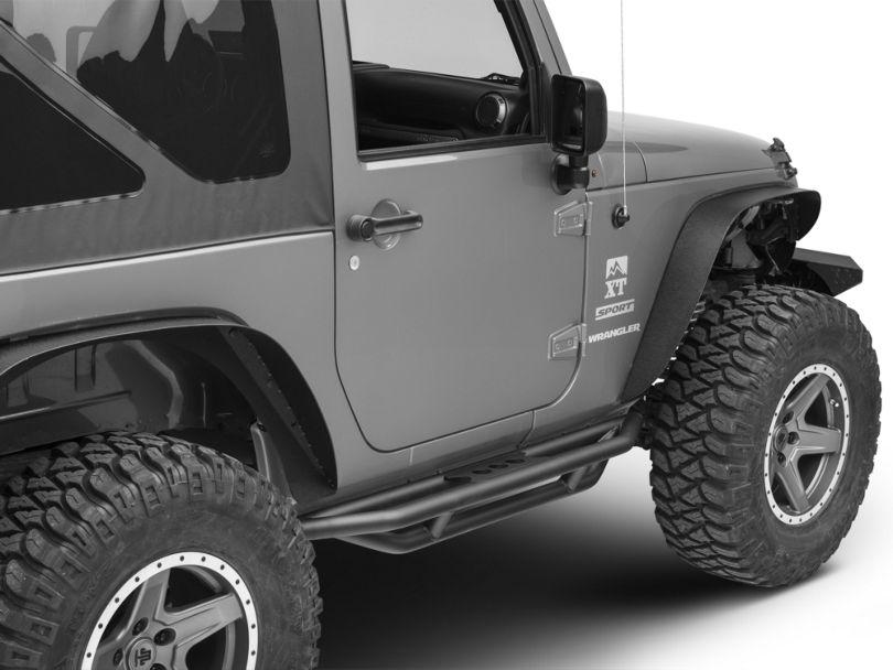 Smittybilt SRC Side Armor - Light Textured (07-18 Jeep Wrangler JK 2 Door)