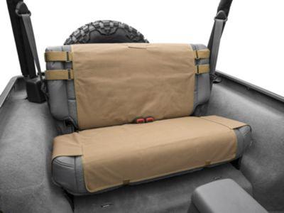 Smittybilt G.E.A.R. Rear Seat Cover - Coyote Tan (87-06 Jeep Wrangler YJ & TJ)