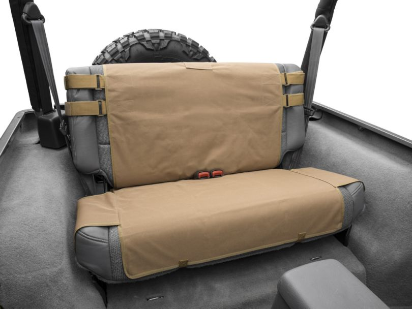 Smittybilt G.E.A.R. Custom Fit Rear Seat Cover - Coyote Tan (87-06 Jeep Wrangler YJ & TJ)
