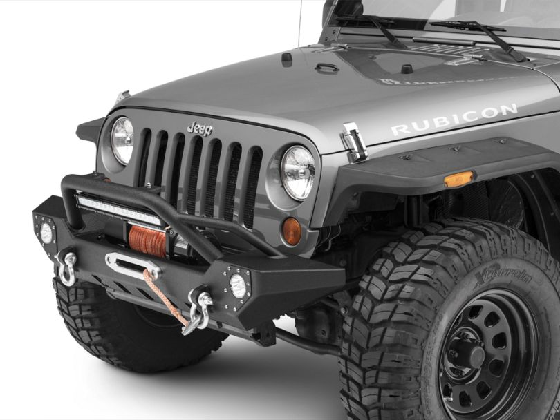 Barricade Adventure HD Front Bumper w/ LED Fog Lights & 20 in. LED Light Bar (07-18 Jeep Wrangler JK)