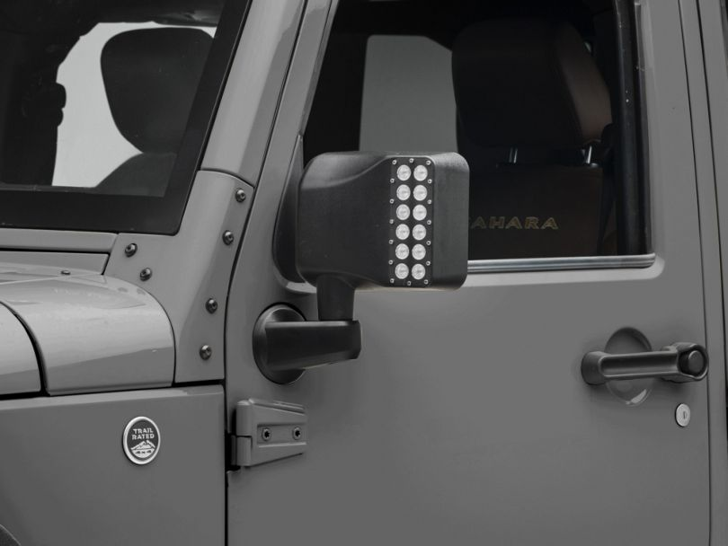 Raxiom Off-Road LED Mirrors w/Turn Signals - Manual (07-19 Jeep Wrangler JK & JL)