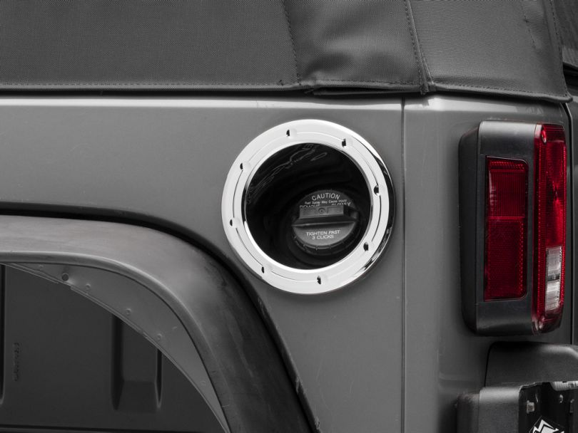 SpeedForm Chrome Fuel Filler Neck Cover (07-18 Jeep Wrangler JK)