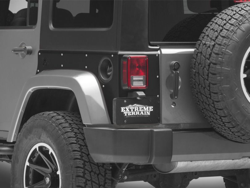 Poison Spyder Crusher Corners w/ OEM Tail Lights Cutouts - SpyderShell Armor Coat (07-18 Jeep Wrangler JK 4 Door)