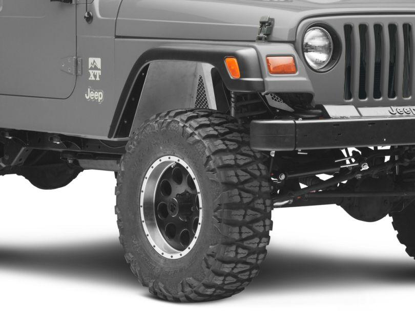 Poison Spyder DeFender Vented Inner Fender Kit - Bare Steel (97-06 Jeep Wrangler TJ)
