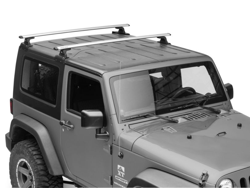 Rhino-Rack Vortex RLT600 2-Bar Backbone Roof Rack - Silver (07-18 Jeep Wrangler JK 2 Door)