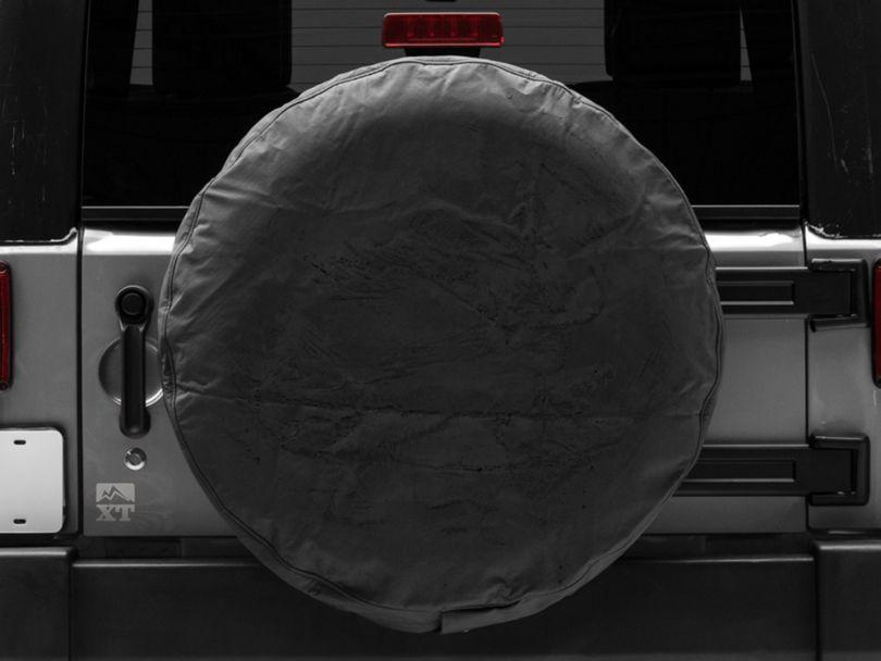MasterTop Tire Cover - Black Denim (87-20 Jeep Wrangler YJ, TJ, JK & JL)