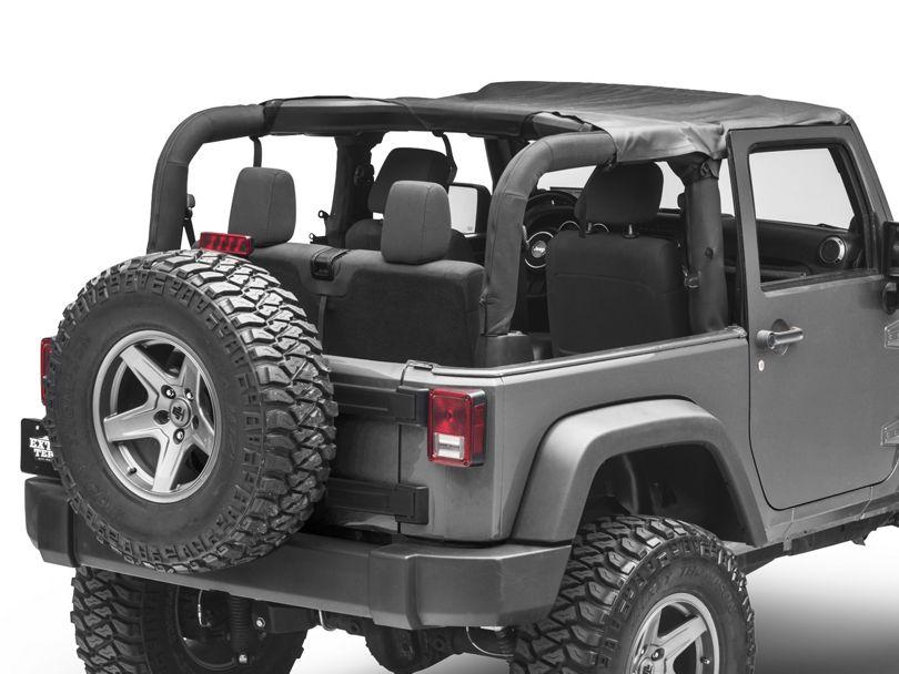 MasterTop Bimini Top - Black Diamond (07-18 Jeep Wrangler JK 2 Door)