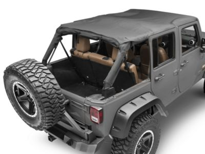 MasterTop Bimini Top Plus - Black Diamond (07-18 Jeep Wrangler JK 4 Door)