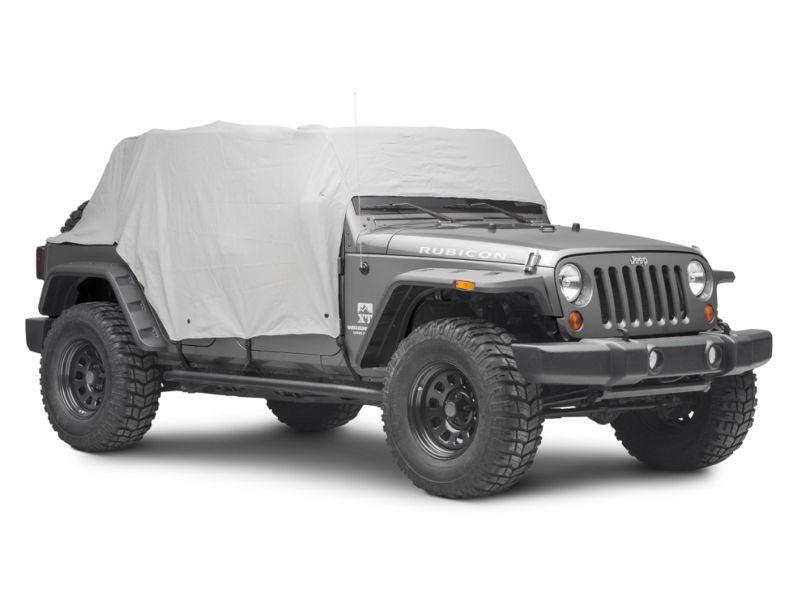 MasterTop Full Door Cab Cover - Gray Denim (07-18 Jeep Wrangler JK 4 Door)