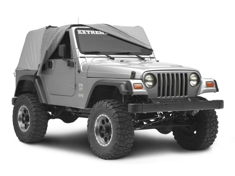MasterTop Full Door Cab Cover - Gray Denim (92-06 Jeep Wrangler YJ & TJ)