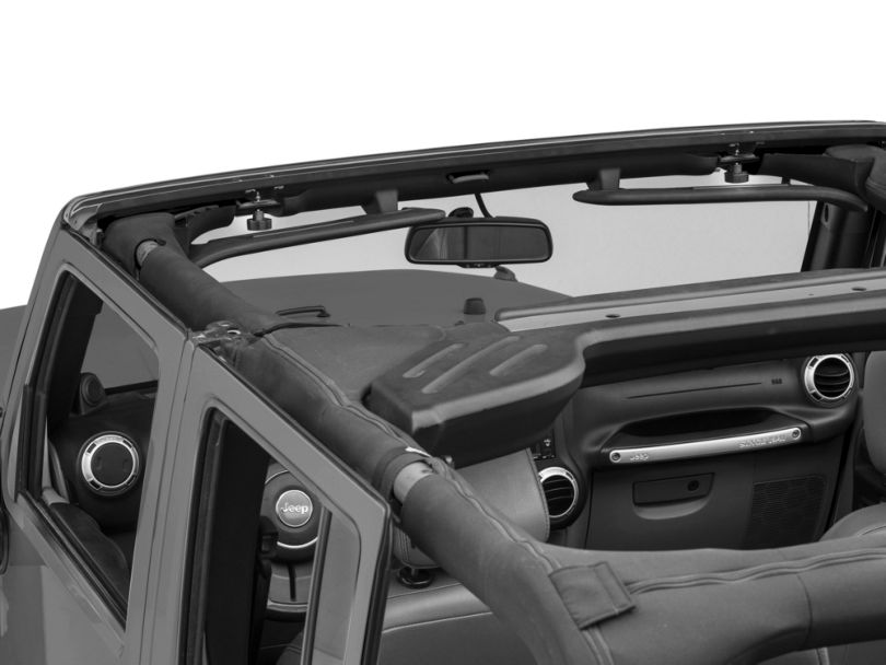 MasterTop No-Drill Windshield Header (07-18 Jeep Wrangler JK)