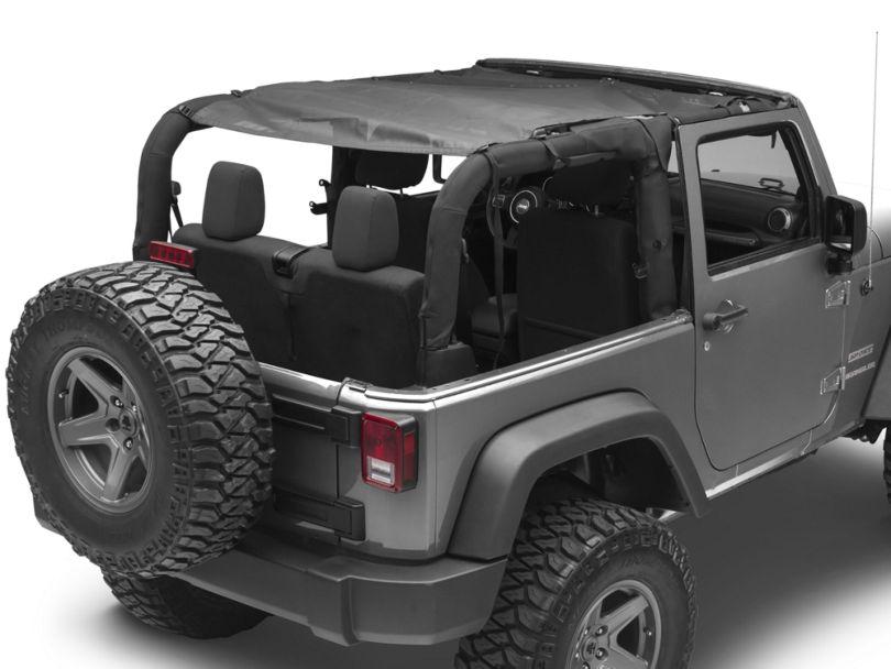 MasterTop ShadeMaker Mesh Bimini Top Plus - Black (07-18 Jeep Wrangler JK 2 Door)