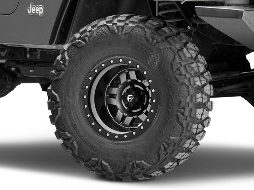 Fuel Wheels Anza Gun Metal Wheel - 15x10 (97-06 Jeep Wrangler TJ)