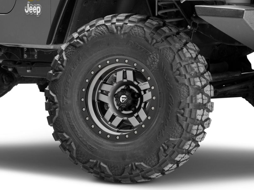 Fuel Wheels Anza Gun Metal Wheel - 15x8 (97-06 Jeep Wrangler TJ)