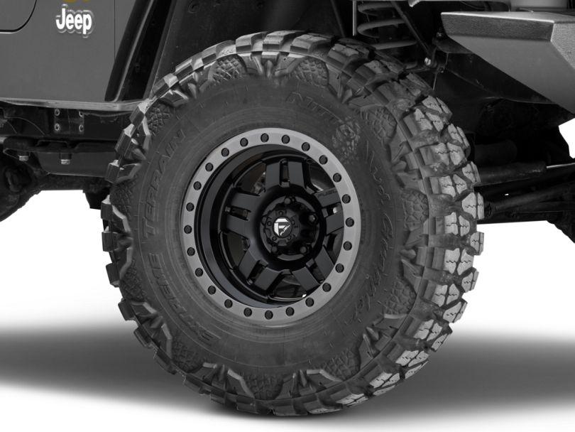 Fuel Wheels Anza Matte Black Wheel; 15x8 (97-06 Jeep Wrangler TJ)
