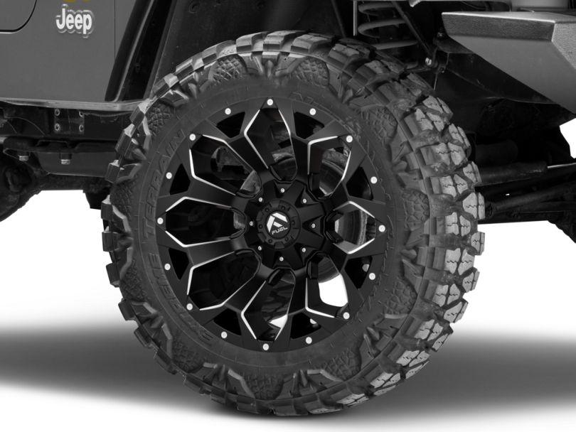 Fuel Wheels Assault Black Milled Wheel - 20x10 (97-06 Jeep Wrangler TJ)