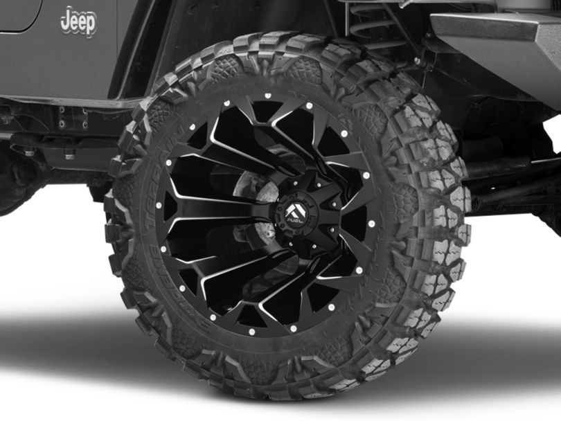 Fuel Wheels Assault Black Milled Wheel - 20x12 (97-06 Jeep Wrangler TJ)