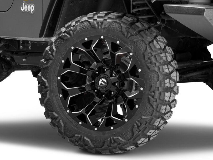 Fuel Wheels Assault Gloss Black Wheel - 20x10 (97-06 Jeep Wrangler TJ)