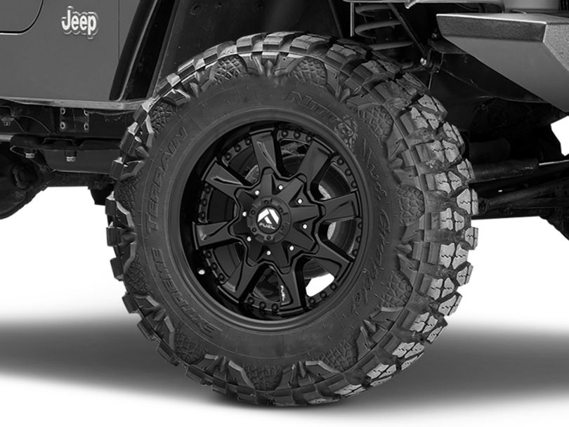 Fuel Wheels Hydro Matte Black Wheel - 18x9 (97-06 Jeep Wrangler TJ)