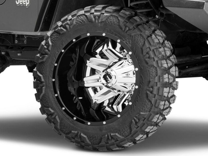 Fuel Wheels Lethal Chrome Wheel - 20x10 (97-06 Jeep Wrangler TJ)